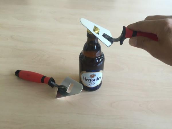 Flaschenöffner Kelle mit Softgriff Edelstahl